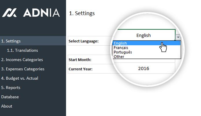 Planilhas Excel Multi-idioma