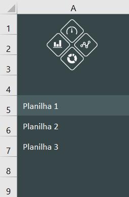 Menu lateral no Excel